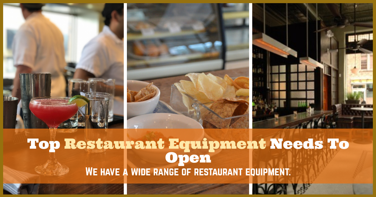 10 Most Important Types Of Restaurant Equipment You Need To Open